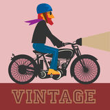 Vintage Motorcycle label Stock Photo