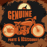 Vintage Motorcycle label Royalty Free Stock Photography