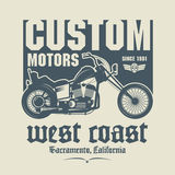 Vintage Motorcycle label Royalty Free Stock Image