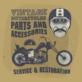 Vintage Motorcycle label Stock Photography