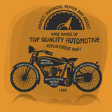 Vintage Motorcycle label or poster Stock Photography