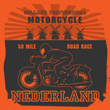 Vintage Motorcycle label Stock Image