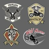 Vintage motorcycle labels Royalty Free Stock Images
