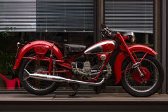 Vintage motorcycle Moto Guzzi Airone. BERLIN - MAY 10, 2015: Vintage motorcycle Moto Guzzi Airone. 28th Berlin-Brandenburg Oldtimer Day Stock Images