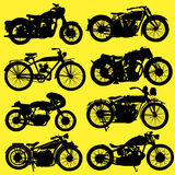 Vintage Motorcycle motorbike vector. On yellow background Royalty Free Stock Images