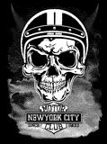 Vintage motorcycle New York typography, t-shirt graphics, vector Stock Image