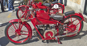 Vintage motorcycle. Old and rare motorcycle Moto Guzzi Royalty Free Stock Photography