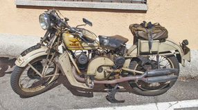 Vintage motorcycle. Old and rare motorcycle Moto Guzzi Stock Images