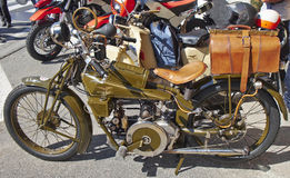 Vintage motorcycle. Old and rare motorcycle Moto Guzzi Normale Royalty Free Stock Images