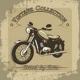 Vintage motorcycle poster Stock Photos