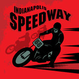 Vintage Motorcycle race label Royalty Free Stock Photo