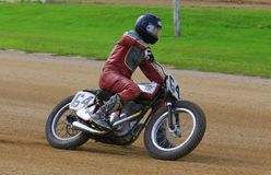 Vintage motorcycle race Royalty Free Stock Photography