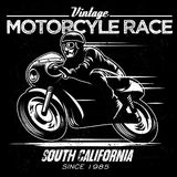 Vintage motorcycle race Royalty Free Stock Photos