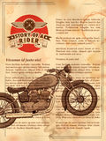 Vintage motorcycle on retro background Royalty Free Stock Images
