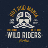 Vintage motorcycle rider apparel design stock illustration