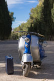 Vintage motorcycle on road Stock Photo