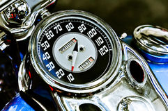 Vintage motorcycle's speedometer Royalty Free Stock Photography