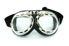 Vintage motorcycle safety glasses royalty free stock photo
