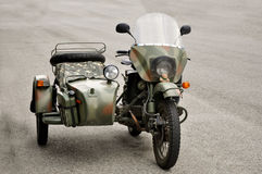 Vintage motorcycle with sidecar Royalty Free Stock Photography