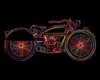 Vintage Motorcycle sketch Stock Photo