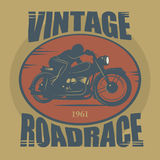 Vintage Motorcycle sport label Royalty Free Stock Photos
