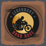 Vintage Motorcycle sport label Stock Photography