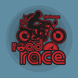 Vintage Motorcycle sport label Royalty Free Stock Photo