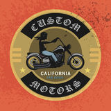 Vintage Motorcycle sport label Royalty Free Stock Image