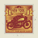 Vintage Motorcycle sport label Stock Photos