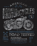 Vintage Motorcycle T-shirt Graphic.  Royalty Free Stock Photos