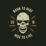 Vintage Motorcycle T-shirt Graphics. Born To Ride. Ride To Live. Vector Illustration. Royalty Free Stock Image