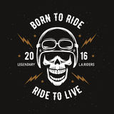Vintage Motorcycle T-shirt Graphics. Born To Ride. Ride To Live. Vector Illustration. Stock Image