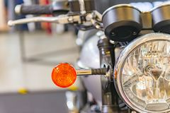 Vintage motorcycle. Traditional motocycle with half headlight Royalty Free Stock Image