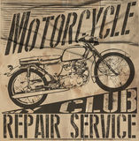 Vintage Motorcycle vector Set.skull riders motorbike vector set Stock Photography