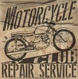 Vintage Motorcycle vector Set.skull riders motorbike vector set Stock Photography