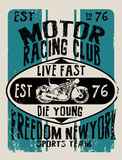 Vintage Motorcycle vector Set.skull riders motorbike vector set Royalty Free Stock Photography