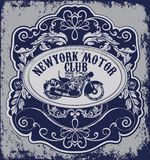 Vintage Motorcycle vector Set.skull riders motorbike vector set Stock Images