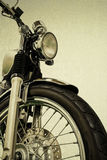 Vintage Motorcycle vintage background and clippingpath Stock Image