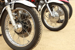 Vintage motorcycle Stock Photography