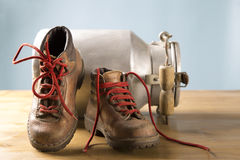 Vintage mountaineering equipment. Old equipment for mountain hikes Stock Images