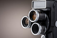 Vintage Movie Camera. Retro vintage super-8 movie camera royalty free stock photos