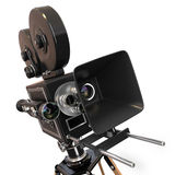 Vintage movie camera. 3d. Vintage movie camera on white background. 3d Royalty Free Stock Photo