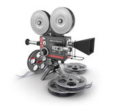 Vintage movie camera and film Royalty Free Stock Photography