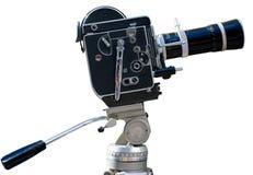 Vintage movie camera, isolated on white Stock Image