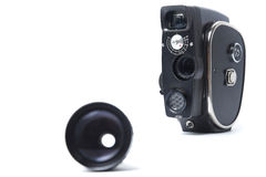 Vintage movie camera. Is made in the USSR Stock Photos