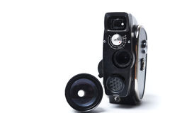 Vintage movie camera. Is made in the USSR Royalty Free Stock Photo