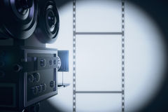 Vintage movie camera making a film Royalty Free Stock Image
