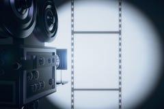 Vintage movie camera making a film Royalty Free Stock Image