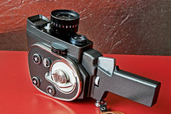 Vintage movie camera. With mechanical drive Stock Images