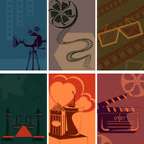 Vintage Movie and Cinema poster Royalty Free Stock Image